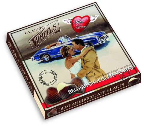 Classic Wheels Chocolate Hearts, 12 Packungen zu je 200g