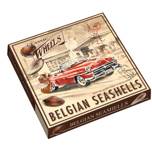 Classic Wheels Seashells, 12 Packungen mit je 250g