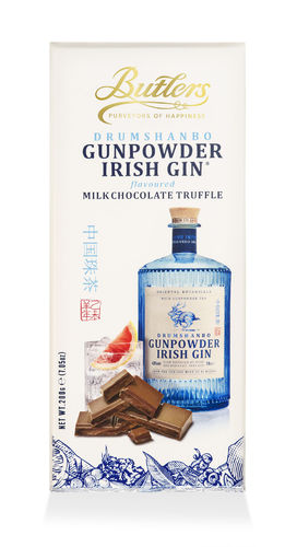 Butlers Irish Gunpowder Gin Truffle Bar 200g