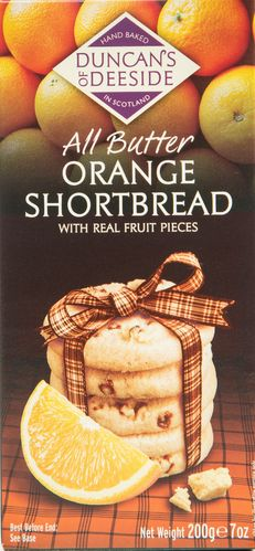 Orange Shortbread Duncans of Deeside 12*200g